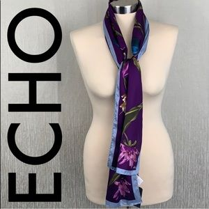 🆕 ECHO NEW SILK FLORAL SCARF 💯AUTHENTIC